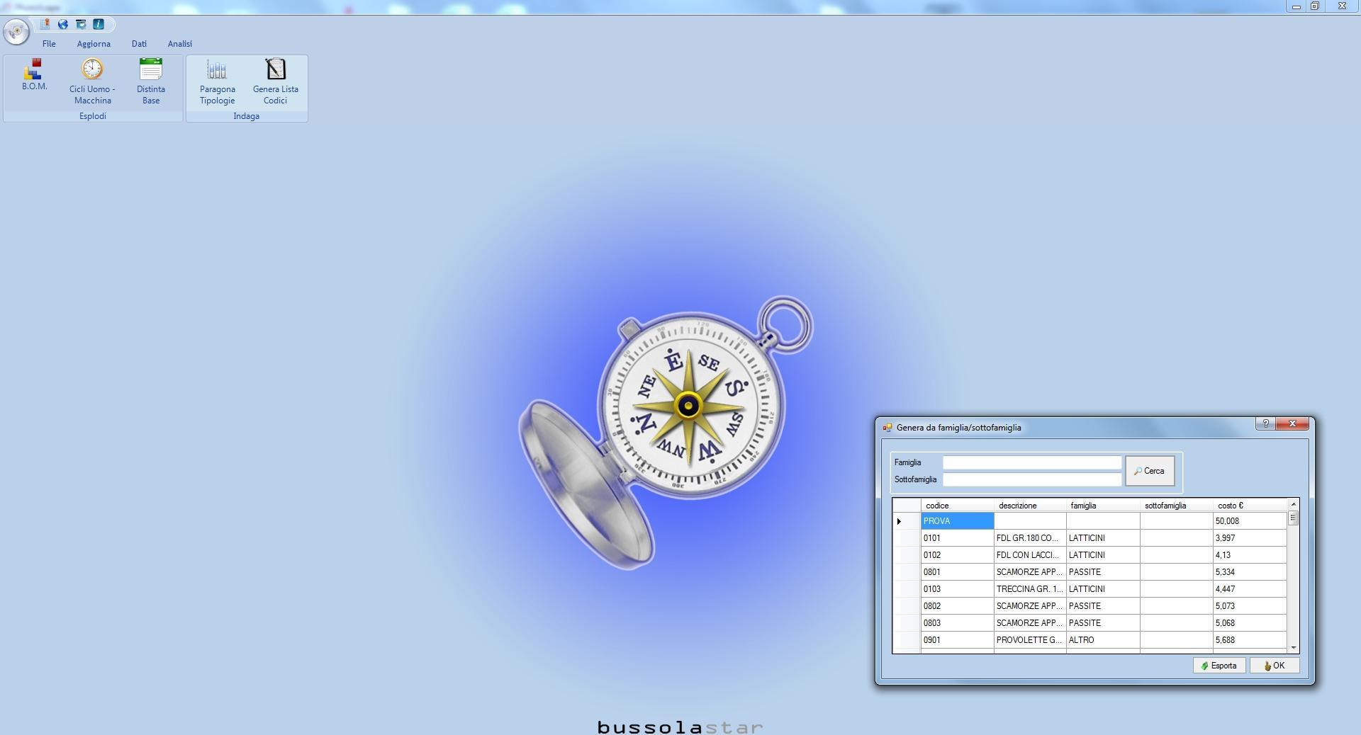 BUSSOLASTAR: il software di Controllo di Gestione e piccola Contabilità Industriale. Licenza singola - Immagine 1 / 4