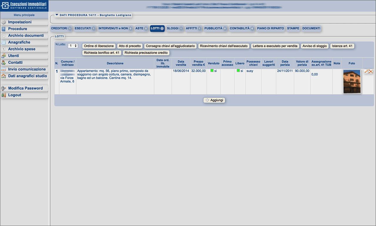 Software Gestionale Esecuzioni Immobiliari Online: offerta di prova 5 pratiche! - Immagine 4 / 6