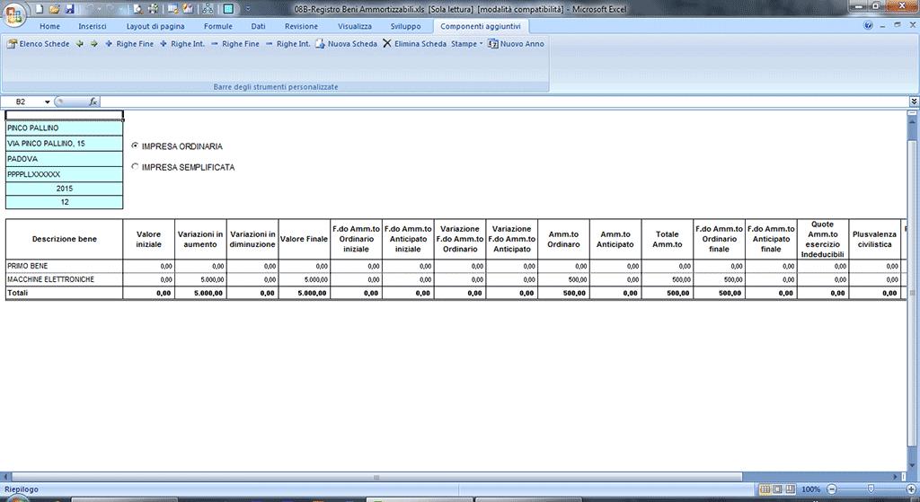 Registro beni ammortizzabili - Calcola imposta di registro ...