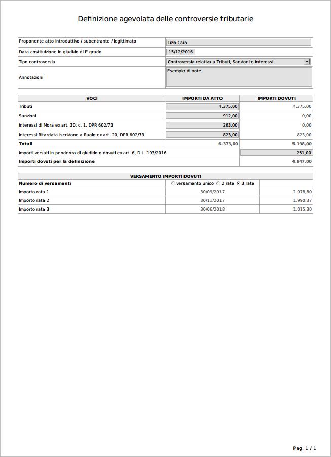 Calcolo rottamazione liti fiscali: versione Cloud - Immagine 2 / 2