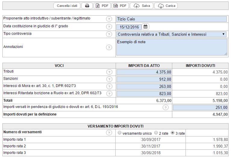 Calcolo rottamazione liti fiscali: versione Cloud - Immagine 1 / 2