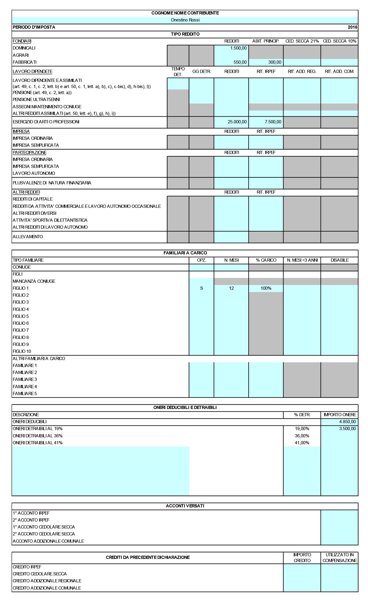 Calcolo previsionale IRPEF 2017 - Immagine 1 / 2