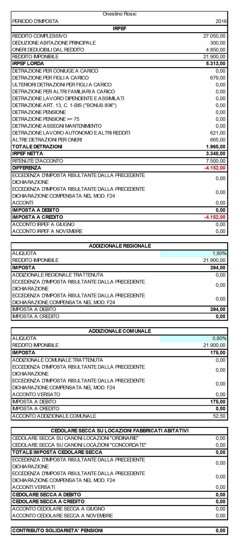 Calcolo previsionale IRPEF 2017 - Immagine 2 / 2