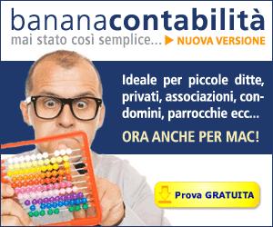 Banana Contabilità - Ideale per piccole ditte, privati, associazioni, condomini, parrocchie ecc... - Clicca per maggiori informnazioni!