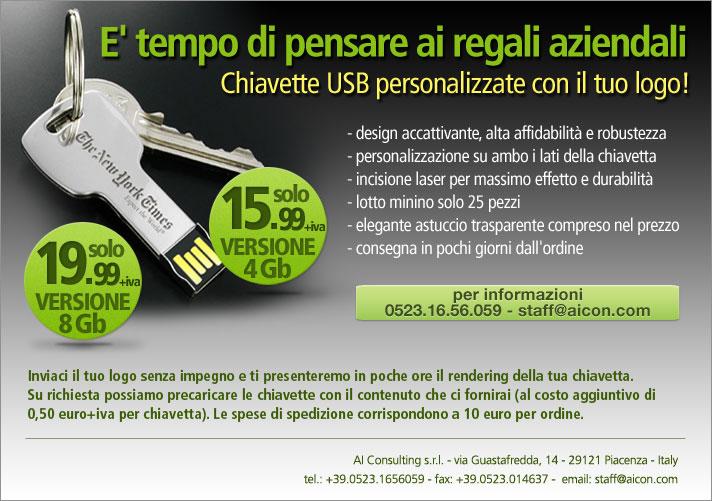 Offerta promozionale chiavette personalizzate con il tuo logo