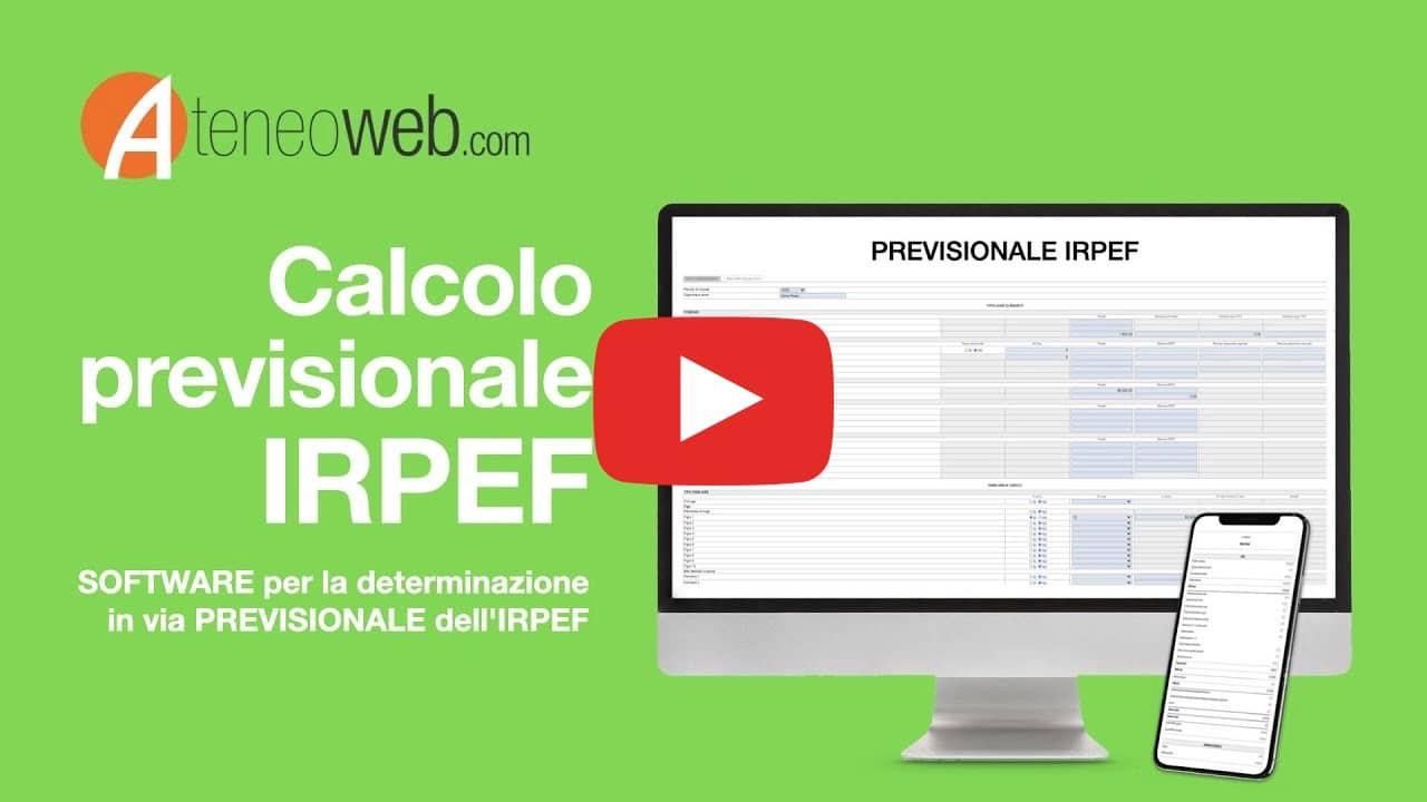 Calcolo previsionale IRPEF